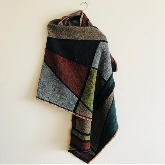 b046317978db BCBGMaxAzria Accessories - BCBG block blanket scarf